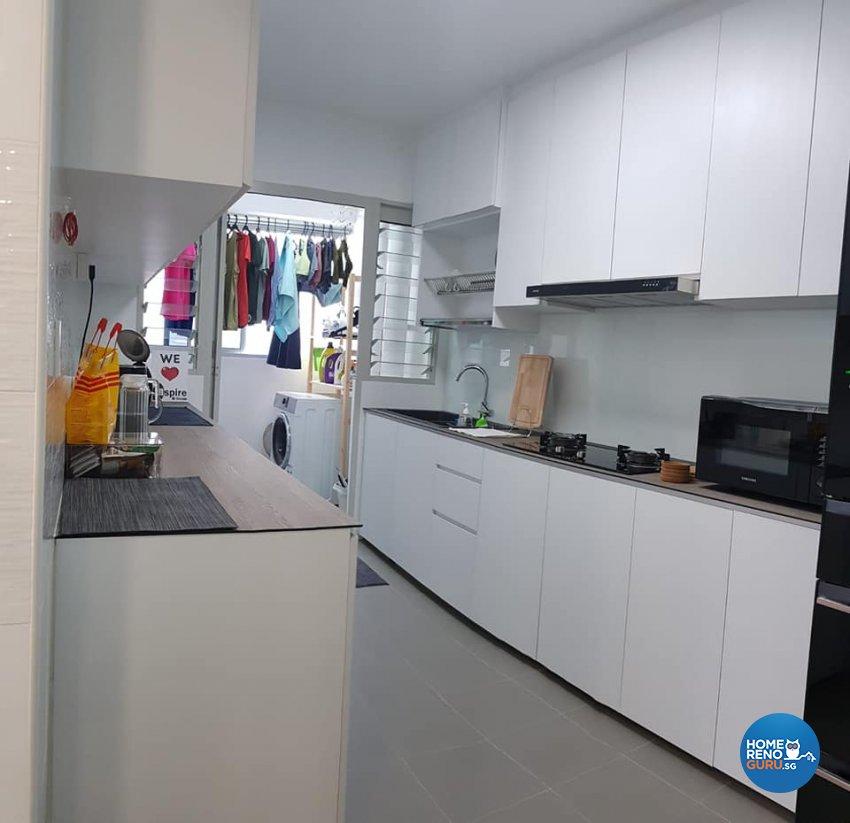 Contemporary, Minimalist, Modern Design - Kitchen - HDB 5 Room - Design by Inspire ID Group Pte Ltd