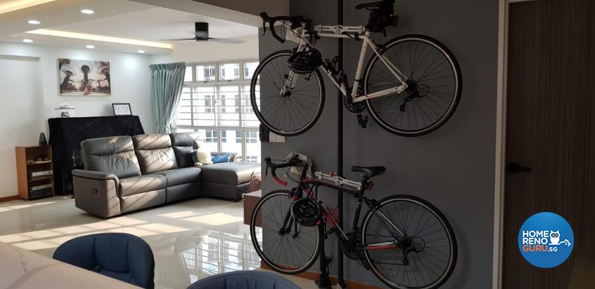 Minimalist, Modern, Scandinavian Design - Living Room - HDB 5 Room - Design by Inspire ID Group Pte Ltd