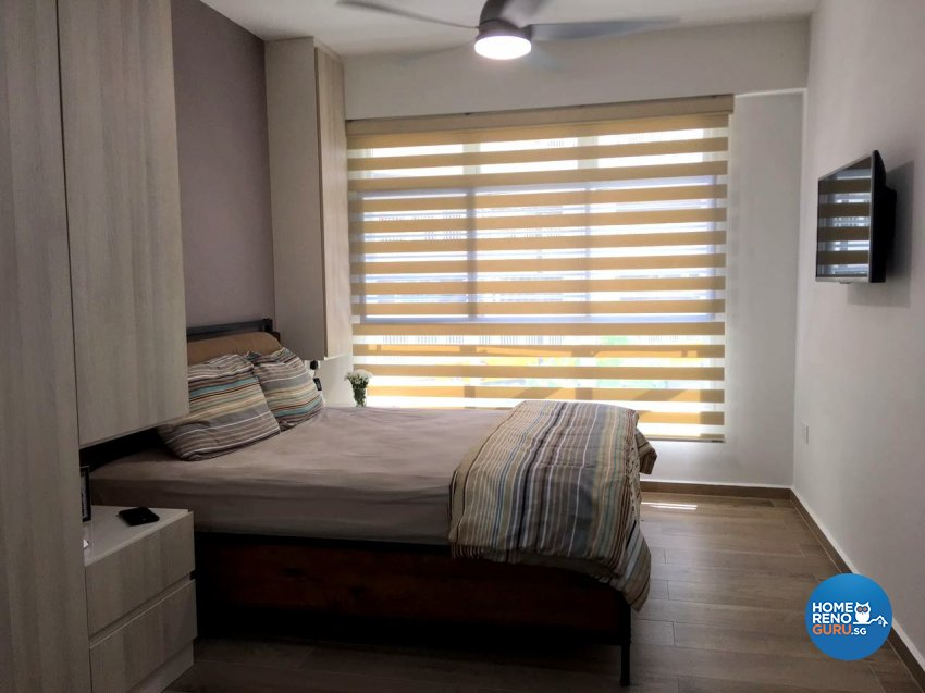 Eclectic, Modern, Rustic Design - Bedroom - HDB 4 Room - Design by Inspire ID Group Pte Ltd