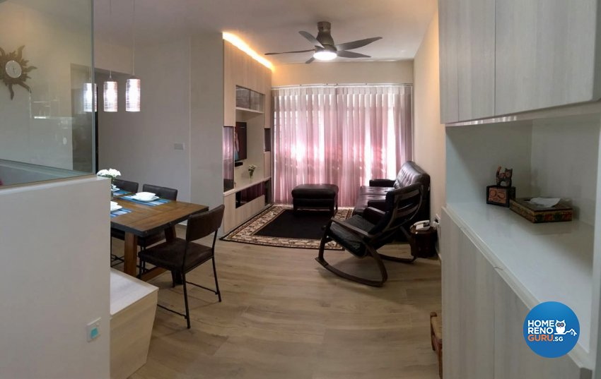 Eclectic, Modern, Rustic Design - Living Room - HDB 4 Room - Design by Inspire ID Group Pte Ltd