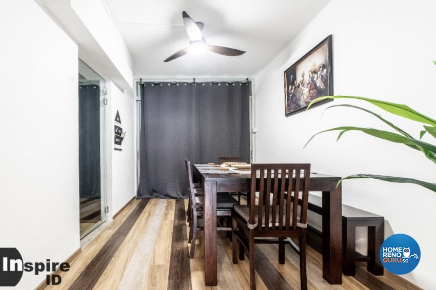 Country, Scandinavian Design - Dining Room - HDB Executive Apartment - Design by Inspire ID Group Pte Ltd