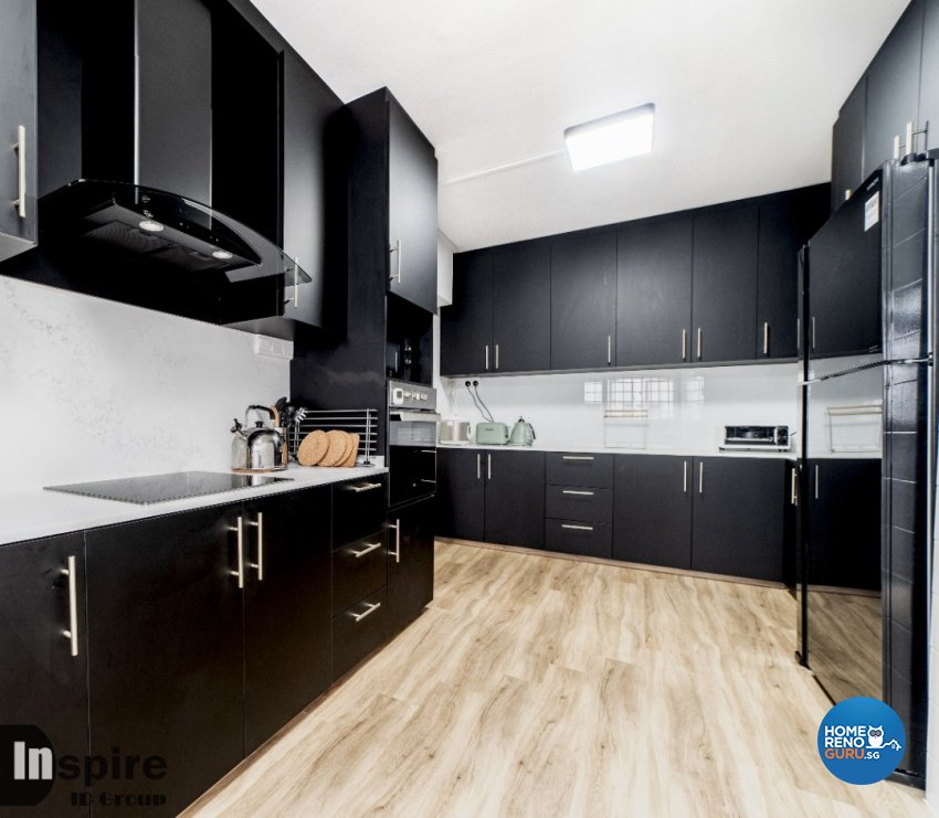 Country, Scandinavian Design - Kitchen - HDB Executive Apartment - Design by Inspire ID Group Pte Ltd