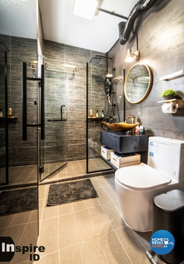 Country, Scandinavian Design - Bathroom - HDB Executive Apartment - Design by Inspire ID Group Pte Ltd