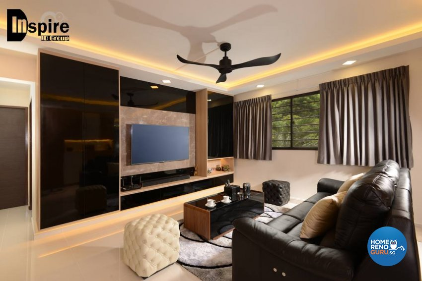 Contemporary, Modern Design - Living Room - HDB 4 Room - Design by Inspire ID Group Pte Ltd