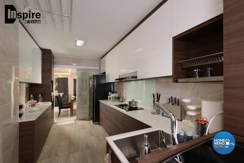 Contemporary, Modern Design - Kitchen - HDB 4 Room - Design by Inspire ID Group Pte Ltd