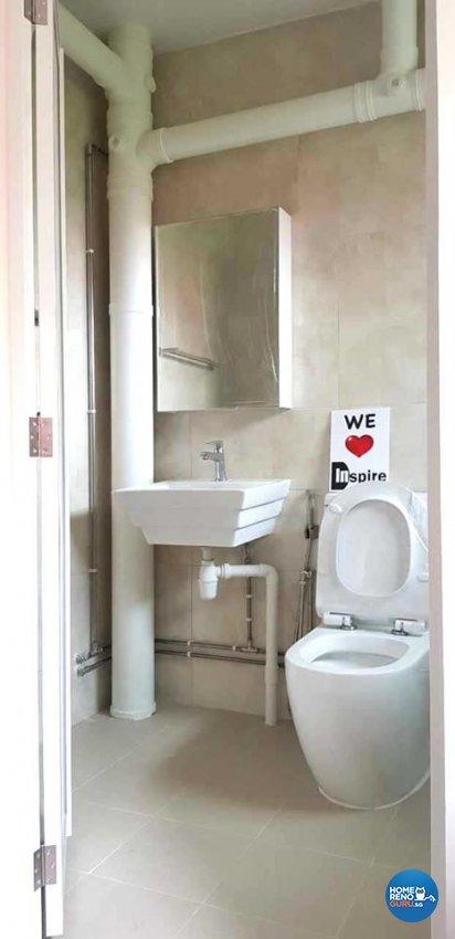 Minimalist, Modern, Scandinavian Design - Bathroom - HDB 4 Room - Design by Inspire ID Group Pte Ltd