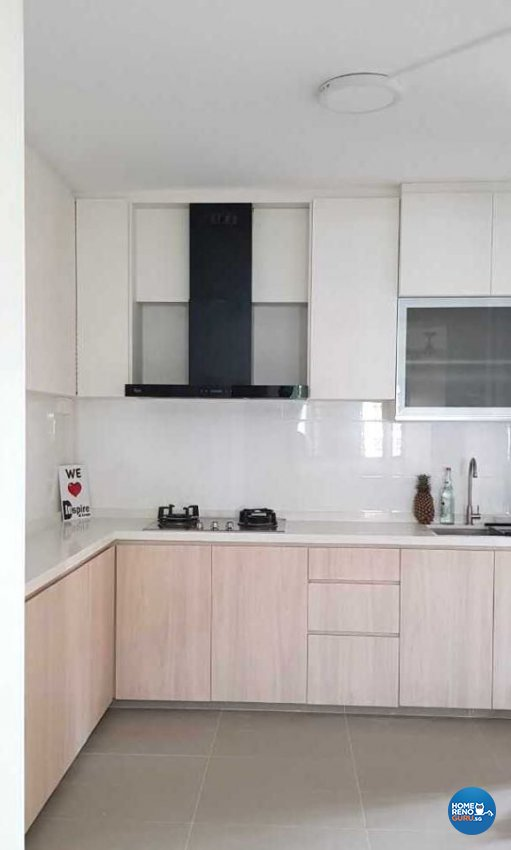 Minimalist, Modern, Scandinavian Design - Kitchen - HDB 4 Room - Design by Inspire ID Group Pte Ltd