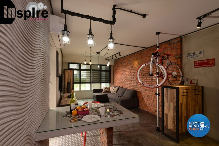 Industrial, Scandinavian Design - Dining Room - HDB 4 Room - Design by Inspire ID Group Pte Ltd