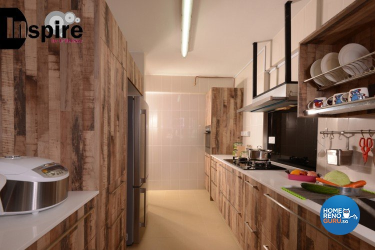 Industrial, Scandinavian Design - Kitchen - HDB 4 Room - Design by Inspire ID Group Pte Ltd