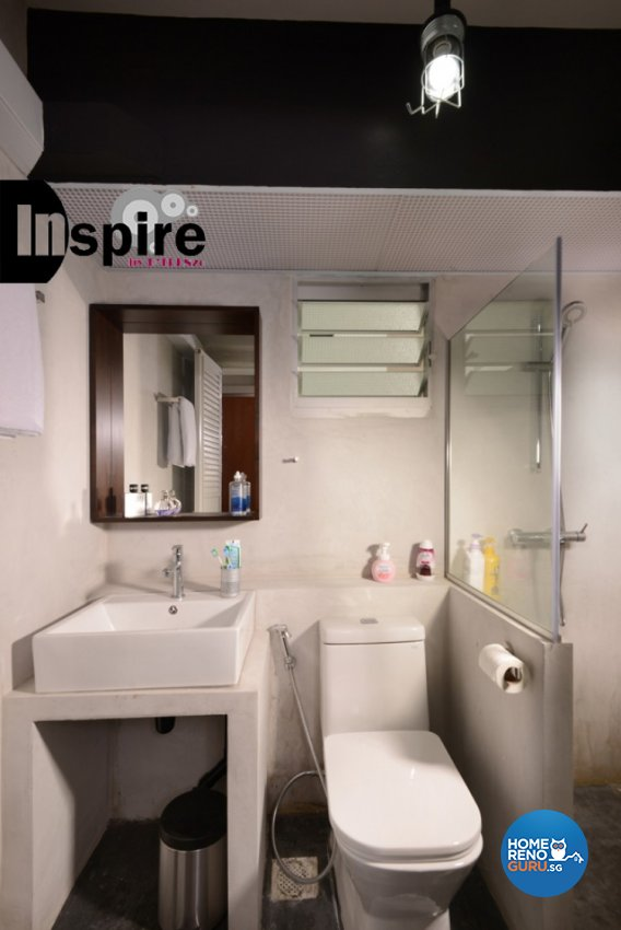 Industrial, Scandinavian Design - Bathroom - HDB 4 Room - Design by Inspire ID Group Pte Ltd