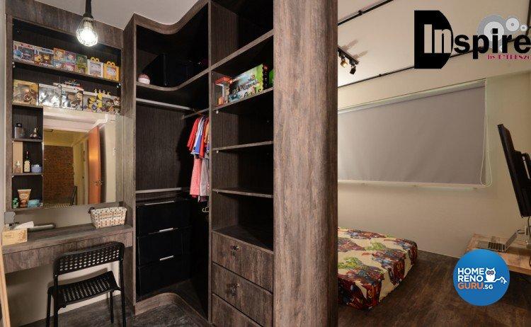 Industrial, Scandinavian Design - Bedroom - HDB 4 Room - Design by Inspire ID Group Pte Ltd