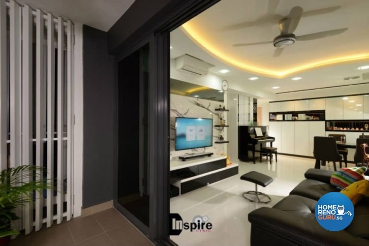 Contemporary, Modern Design - Balcony - Condominium - Design by Inspire ID Group Pte Ltd