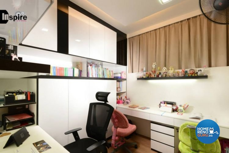 Contemporary, Modern Design - Study Room - Condominium - Design by Inspire ID Group Pte Ltd