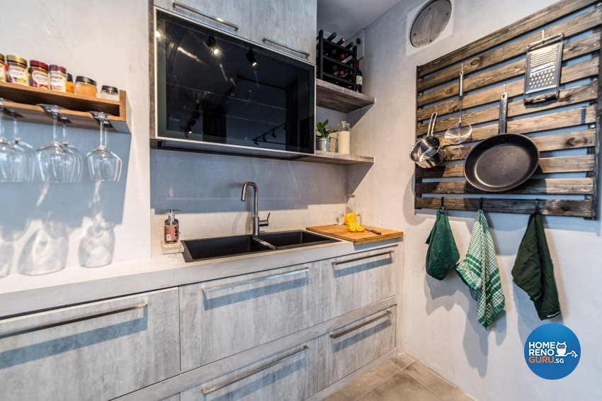 Industrial Design - Kitchen - HDB 4 Room - Design by Inspire ID Group Pte Ltd
