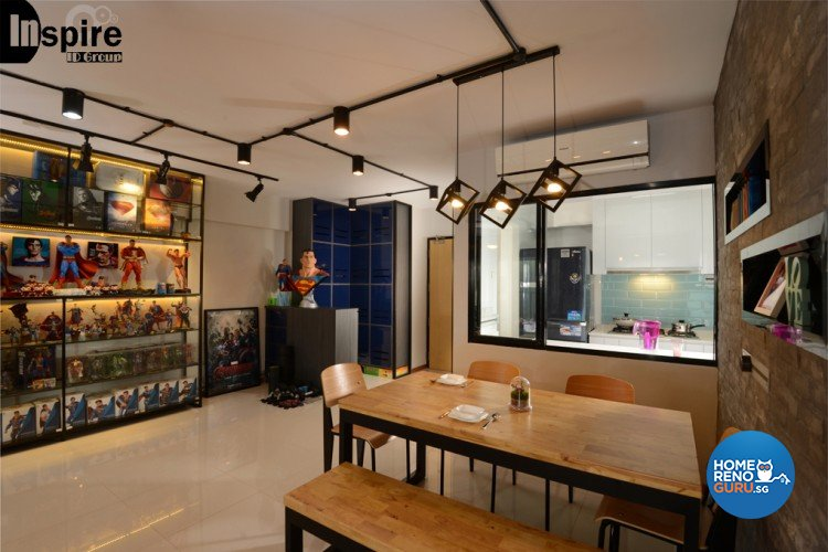 Industrial, Modern Design - Dining Room - HDB 4 Room - Design by Inspire ID Group Pte Ltd