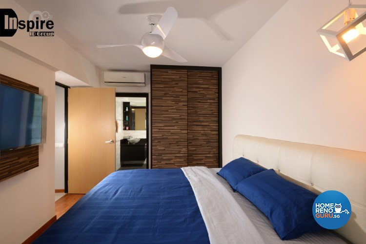 Industrial, Modern Design - Bedroom - HDB 4 Room - Design by Inspire ID Group Pte Ltd
