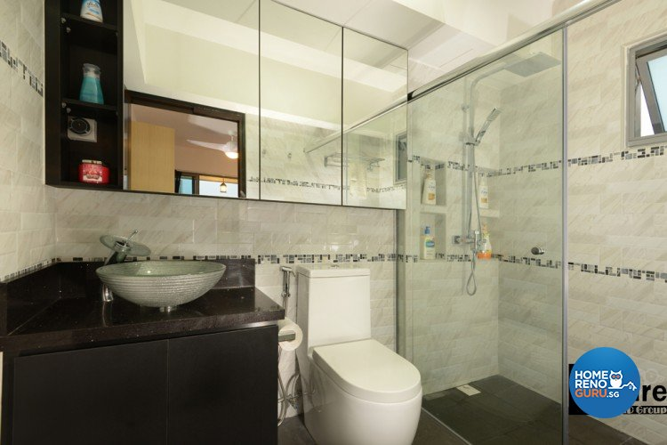 Industrial, Modern Design - Bathroom - HDB 4 Room - Design by Inspire ID Group Pte Ltd