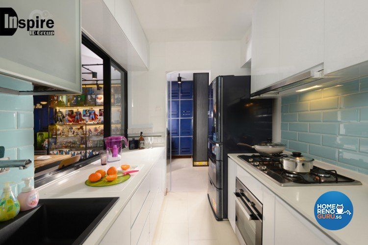 Industrial, Modern Design - Kitchen - HDB 4 Room - Design by Inspire ID Group Pte Ltd