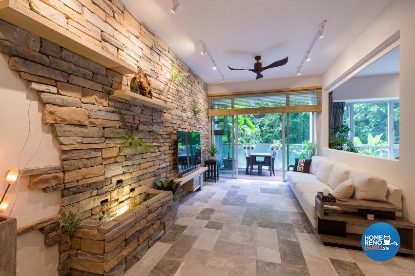 Modern, Resort, Tropical Design - Living Room - Condominium - Design by Interi Living