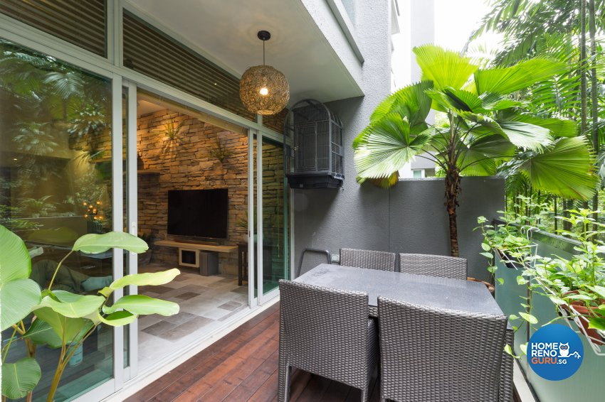 Modern, Resort, Tropical Design - Balcony - Condominium - Design by Interi Living