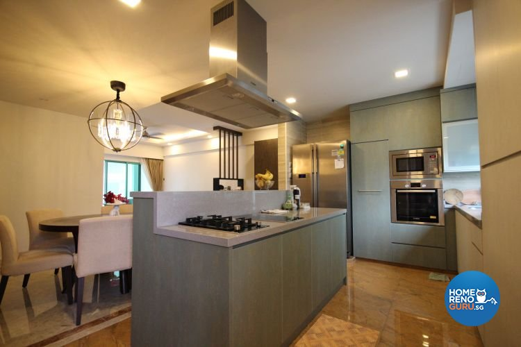 Contemporary, Industrial, Modern Design - Kitchen - Condominium - Design by Interi Living