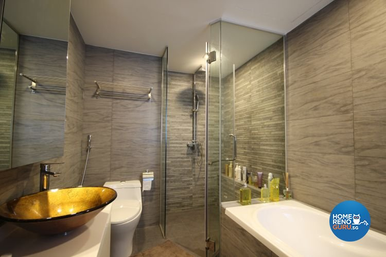Contemporary, Industrial, Modern Design - Bathroom - Condominium - Design by Interi Living
