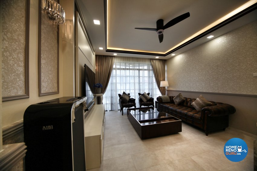 Modern, Others, Victorian Design - Living Room - Condominium - Design by Interior Diary Private Limited