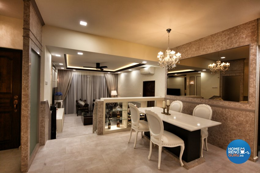 Modern, Others, Victorian Design - Dining Room - Condominium - Design by Interior Diary Private Limited