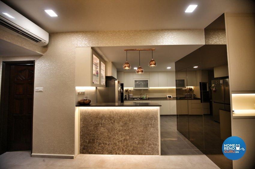 Modern, Others, Victorian Design - Kitchen - Condominium - Design by Interior Diary Private Limited