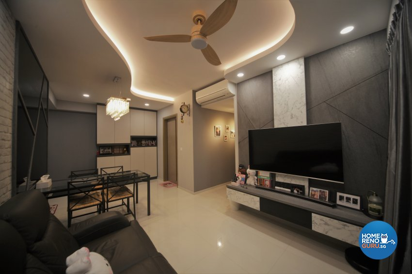 Classical, Modern Design - Living Room - Condominium - Design by Interior Diary Private Limited