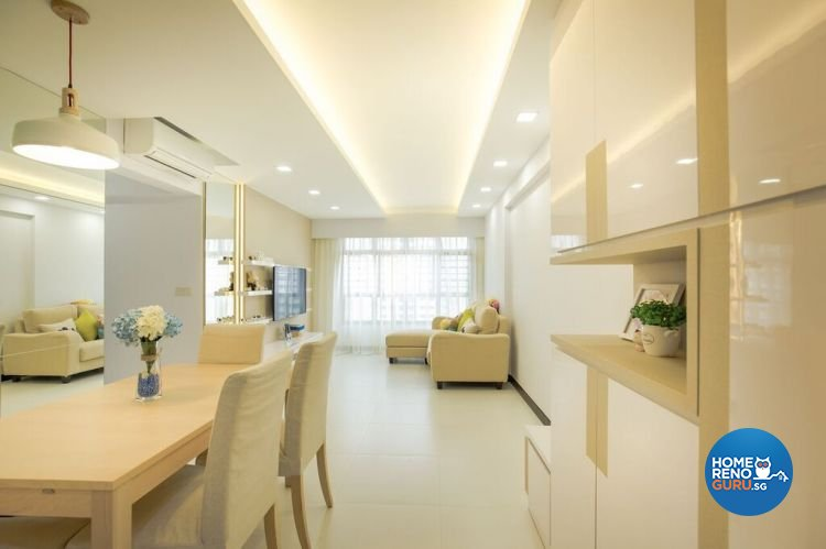 Contemporary, Modern, Scandinavian Design - Living Room - HDB 4 Room - Design by Interior Doctor Pte Ltd