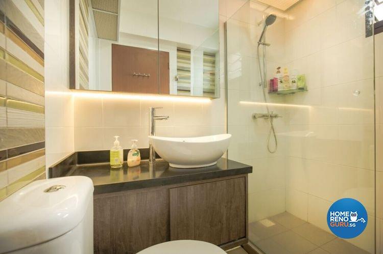 Contemporary, Modern, Scandinavian Design - Bathroom - HDB 4 Room - Design by Interior Doctor Pte Ltd