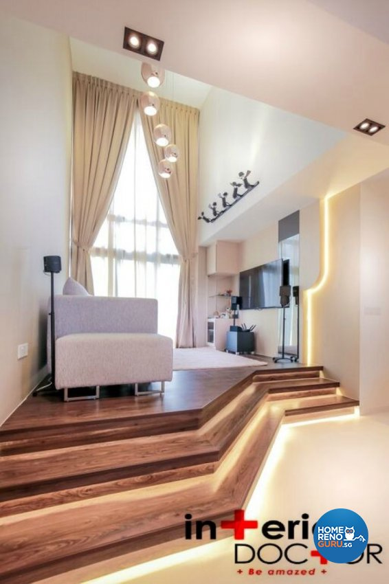 Contemporary, Modern Design - Living Room - HDB 4 Room - Design by Interior Doctor Pte Ltd