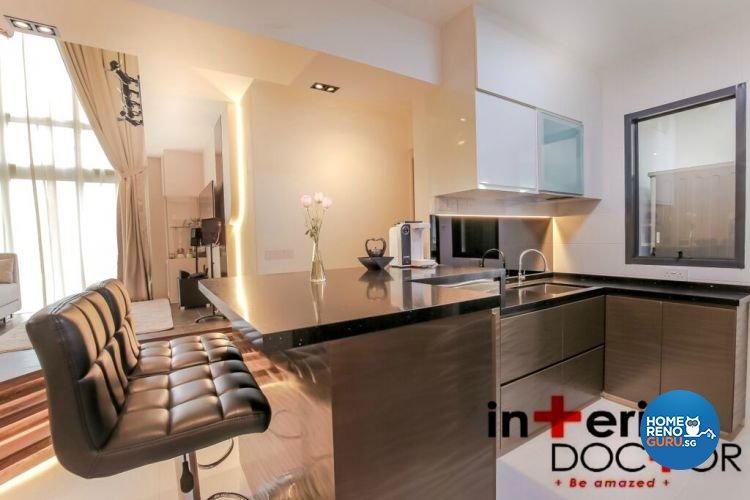 Contemporary, Modern Design - Kitchen - HDB 4 Room - Design by Interior Doctor Pte Ltd