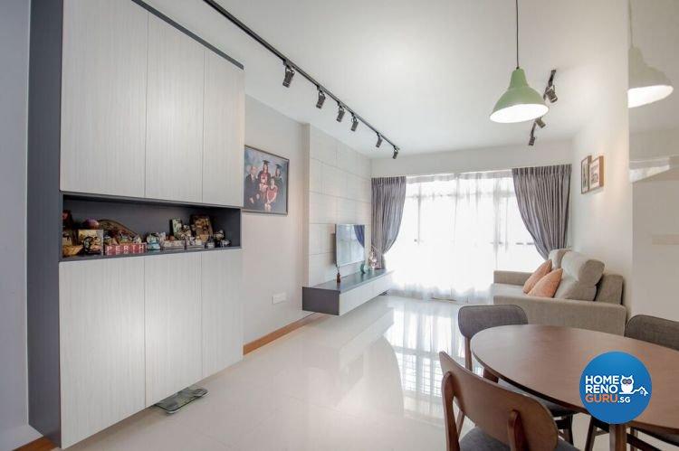 Modern, Scandinavian Design - Living Room - HDB 4 Room - Design by Interior Doctor Pte Ltd