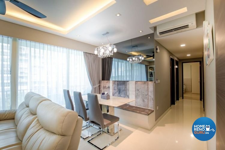 Contemporary, Modern Design - Dining Room - HDB Executive Apartment - Design by Interior Doctor Pte Ltd