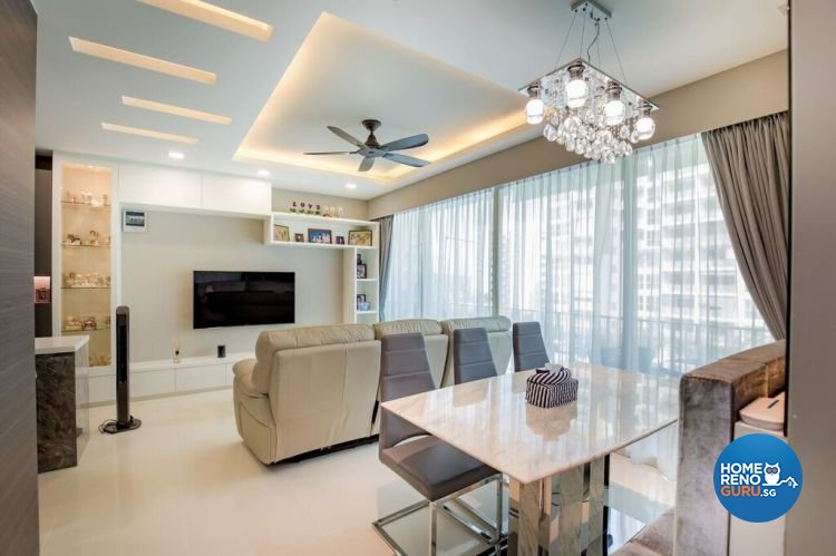 Contemporary, Modern Design - Living Room - HDB Executive Apartment - Design by Interior Doctor Pte Ltd