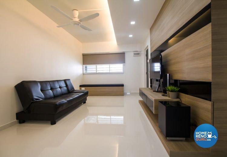 Contemporary, Minimalist Design - Living Room - Condominium - Design by Interior Secrets Pte Ltd