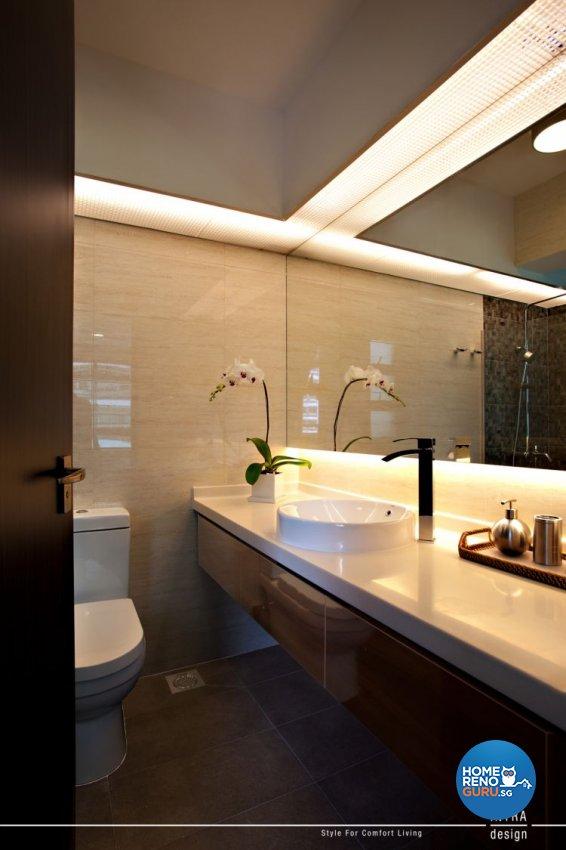 Contemporary Design - Bathroom - HDB 5 Room - Design by Intradesign & Renovation Pte Ltd