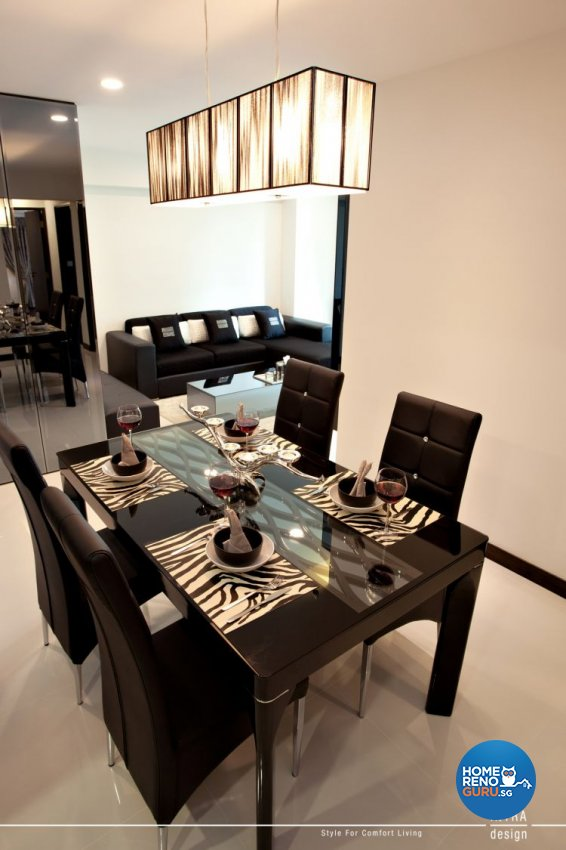 Contemporary Design - Dining Room - HDB 5 Room - Design by Intradesign & Renovation Pte Ltd