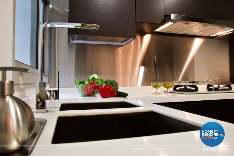 Contemporary Design - Kitchen - HDB 5 Room - Design by Intradesign & Renovation Pte Ltd