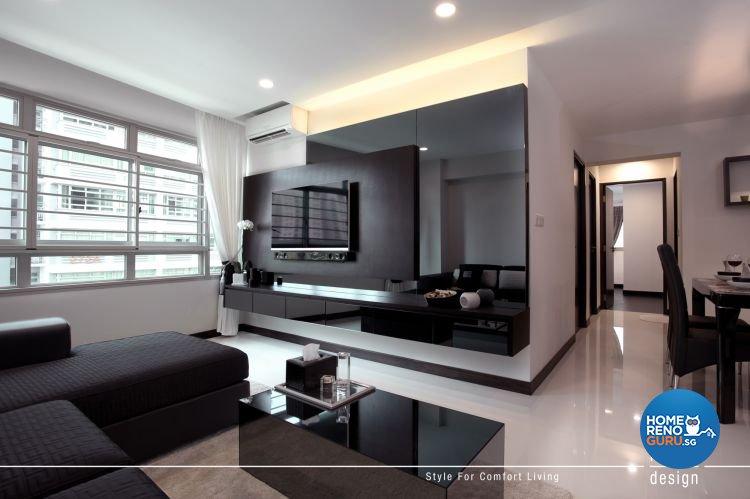 Contemporary Design - Living Room - HDB 5 Room - Design by Intradesign & Renovation Pte Ltd
