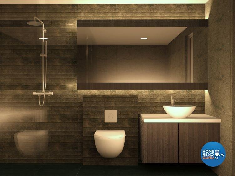 Contemporary, Minimalist Design - Bathroom - Landed House - Design by JDB Design & Build Pte Ltd