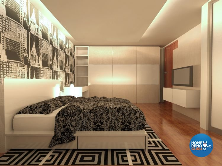 Contemporary, Minimalist Design - Bedroom - Landed House - Design by JDB Design & Build Pte Ltd