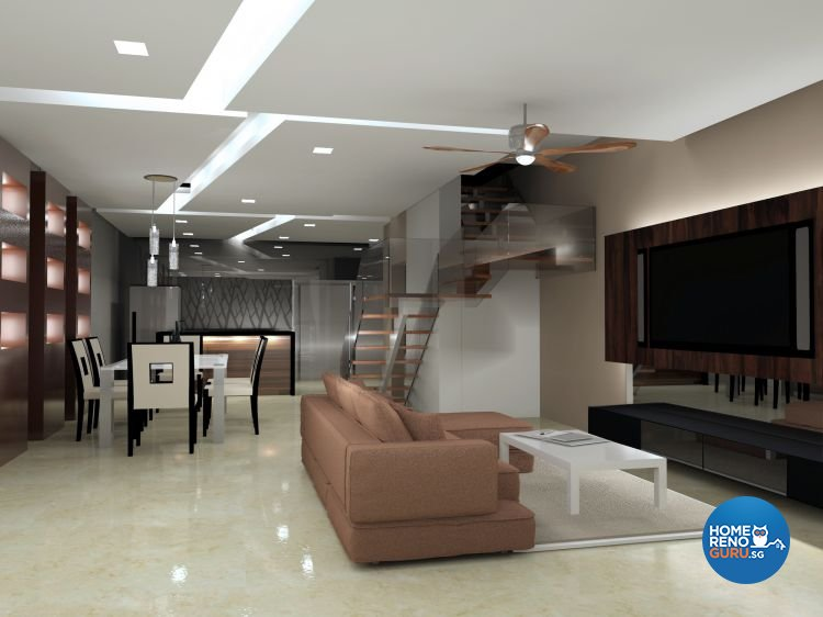 Contemporary, Minimalist Design - Living Room - Landed House - Design by JDB Design & Build Pte Ltd