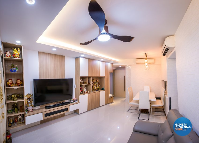 Scandinavian Design - Living Room - Condominium - Design by Jialux Interior Pte Ltd