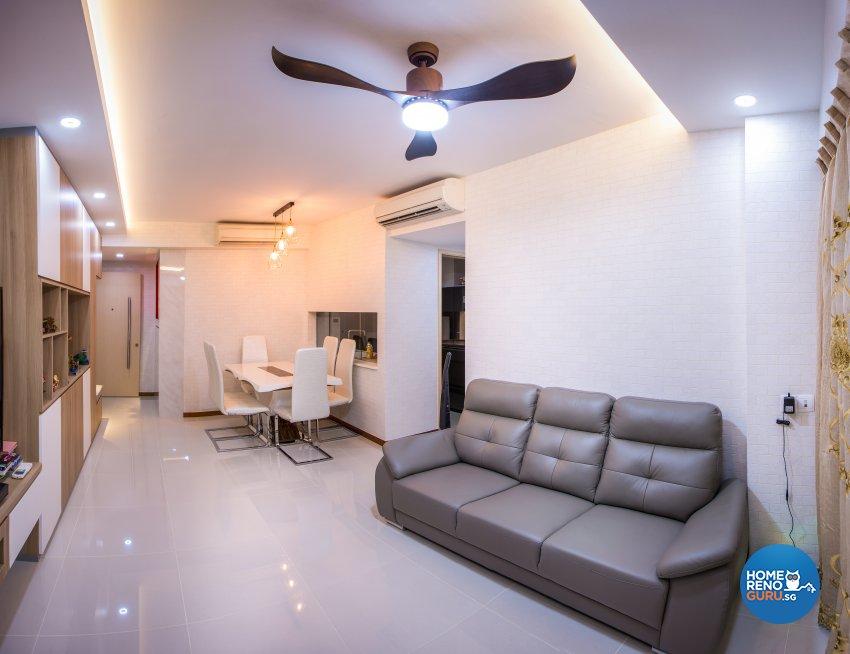 Scandinavian Design - Living Room - Condominium - Design by Jialux Interior Pte Ltd