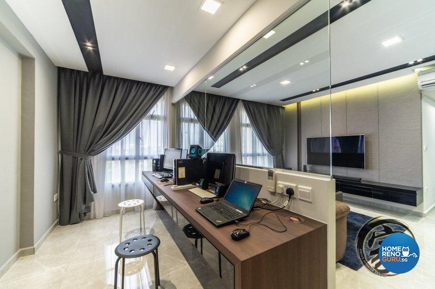Contemporary, Modern Design - Study Room - HDB 5 Room - Design by Jialux Interior Pte Ltd