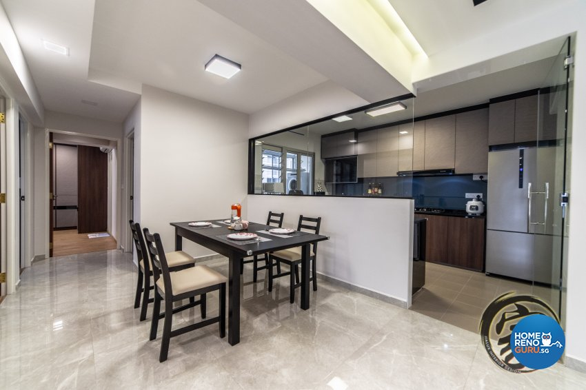 Contemporary, Modern Design - Dining Room - HDB 5 Room - Design by Jialux Interior Pte Ltd