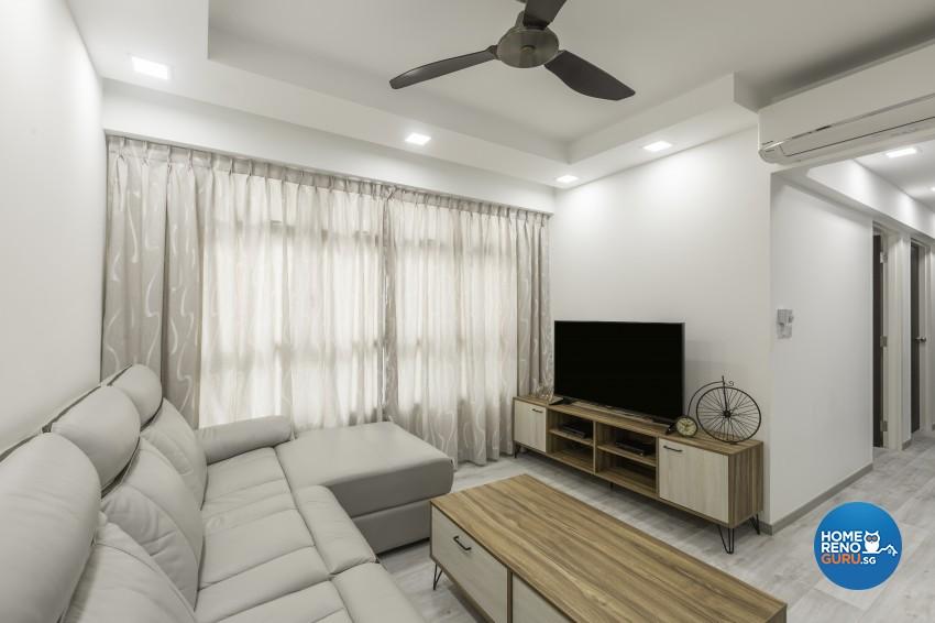 Modern Design - Living Room - HDB 4 Room - Design by Jialux Interior Pte Ltd